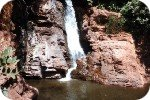 Dudhsagar waterfall in the dry season